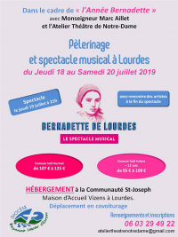 Pèlerinage et spectacle musical à Lourdes
