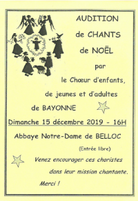 Audition de chants de Noël
